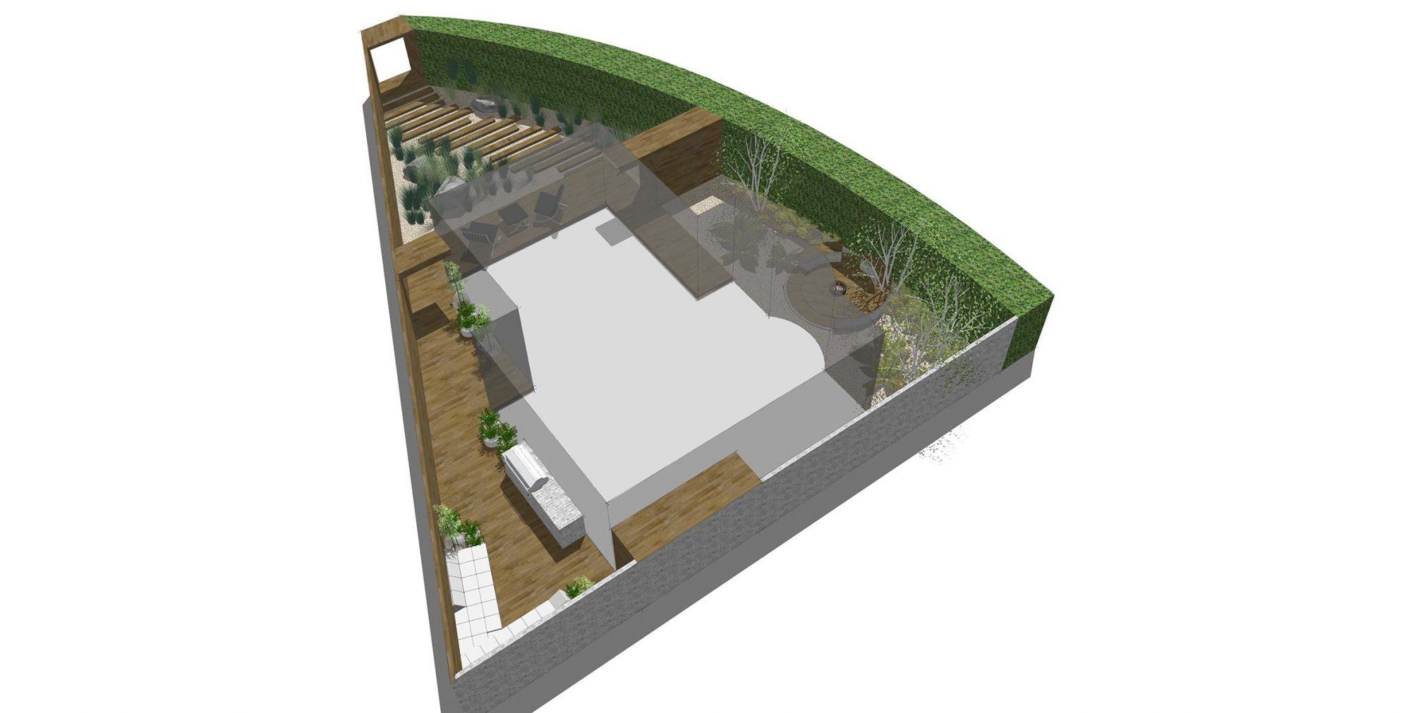 Courtyard garden brighton studio 31 garden design sussex for Landscape design sussex